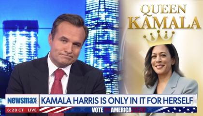"Newsmax host says Kamala Harris is ""acting all gangsta"""