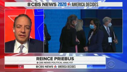 chyron reads: Reince Priebus CBS News political analyst