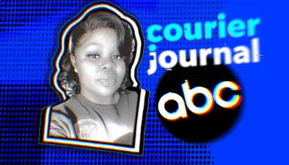 Image of Breonna Taylor and the Courier Journal and ABC logos