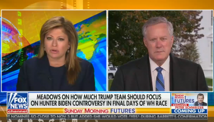 Maria Bartiromo and Mark Meadows