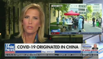 "chyron reads, ""COVID-19 ORIGINATED IN CHINA"""