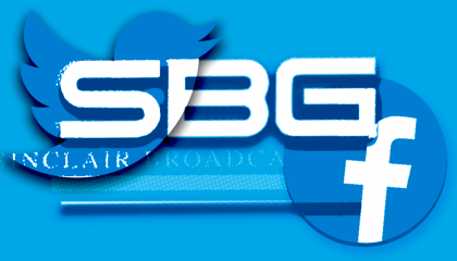 Sinclair Broadcast Group with Twitter and Facebook logos