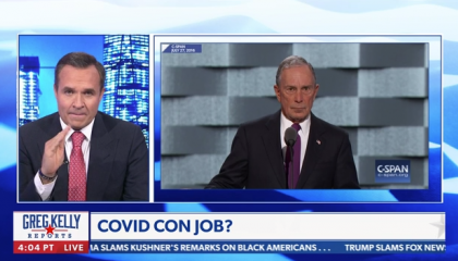 Newsmax host casts doubt on Johns Hopkins' COVID data due to Mike Bloomberg donation