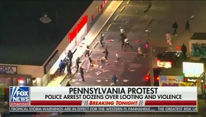 Right-wing media fearmonger about Philadelphia protests while obscuring the police brutality that inspired them