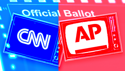 CNN and AP logos