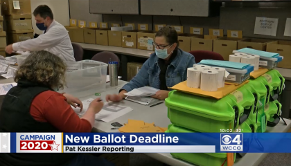 WCCO's coverage of an appeals court ruling on MN's mail-in ballots