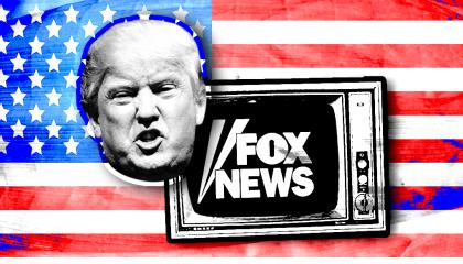 trump fox flag