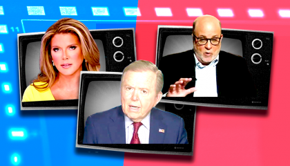 Trish Regan, Lou Dobbs, and Mark Levin