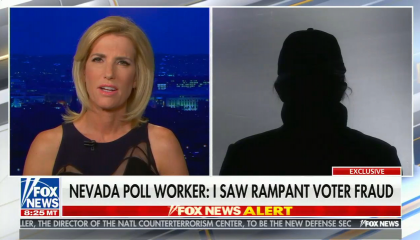 Ingraham Nevada poll working claiming voter fraud