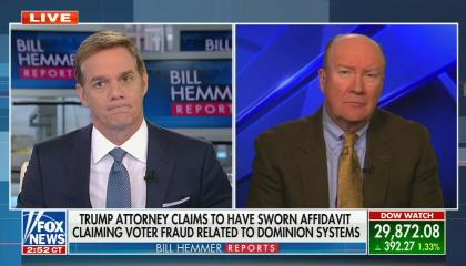 "Fox News anchor says Trump campaign lawyer's election-related conspiracy theories ""sounded convincing"""