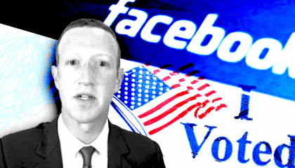 zuckerberg facebook voting