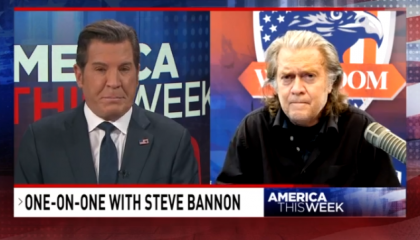 Sinclair's Eric Bolling interviewing Steve Bannon