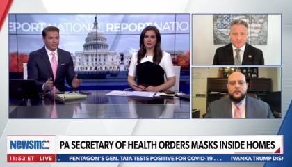 """Newsmax guest calls on all """"patriotic"""" Americans to """"resist"""" public health guidelines"""