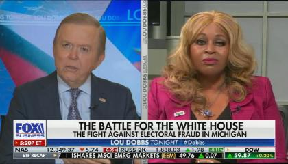 chyron reads: The battle for the White House electoral mess in Michigan democratic cities