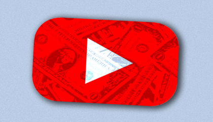 YouTube logo money