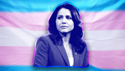 Tulsi Gabbard trans flag