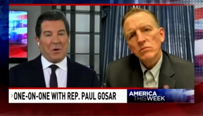 Sinclair's Eric Bolling interviewing Rep. Paul Gosar (R-AZ)