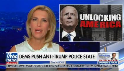 "chyron reads, ""DEMS PUSH ANTI-TRUMP POLICE STATE"""