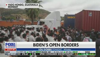 chyron reads: Biden's open borders
