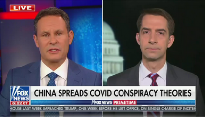 Tom Cotton on Fox News Primetime with Brian Kilmeade