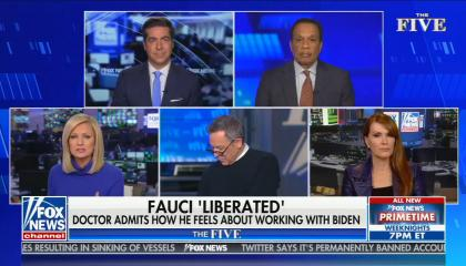 chyron reads: Fauci 'liberated' doctor admits how he feels about working with Biden