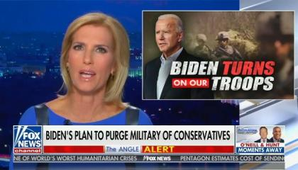 Laura Ingraham warns that Republicans will oppose funding the military if extremists in the ranks are removed