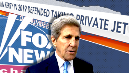 Fox's attacks on Kerry's use and ownership of private jet