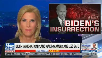 chyron reads; Biden opening US border to illegals