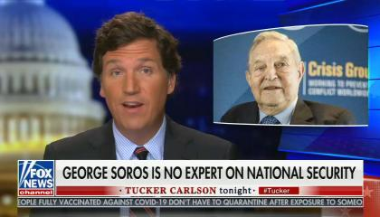 chyron reads: George Soros is no expert on national security