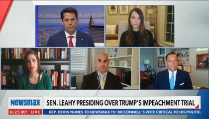 Newsmax host falsely argues the Supreme Court has already ruled Donald Trump's impeachment trial unconstitutional