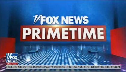 Fox News Primetime in bold, white font