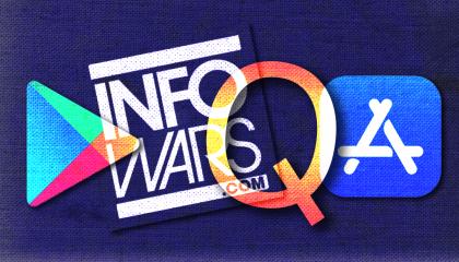 Infowars QAnon app stores