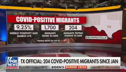 Fox News image on migrants spreading COVID
