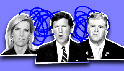 Laura Ingraham, Tucker Carlson, and Sean Hannity