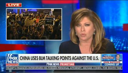 chyron reads: China uses BLM talking points against the U.S.