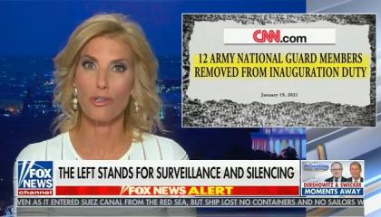 "Laura Ingraham launches unhinged conspiracy the Pentagon is going to surveil ""anyone who's ever posted anything positive about Donald Trump"""