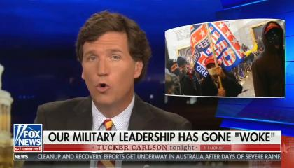 Tucker Carlson attacks the military for removing racists, demands they instead label Black Lives Matter an extremist group