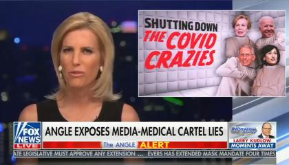"chyron reads, ""ANGLE EXPOSES MEDIA-MEDICAL CARTEL LIES"""