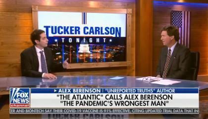 "chyron reads: ""The Atlantic"" calls Alex Berenson ""The pandemic's wrongest man"""