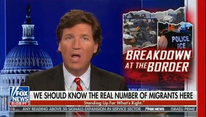 "Tucker Carlson: The number of immigrants currently in America ""devalue your political power"" and ""subvert democracy"""