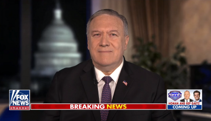 Mike Pompeo appearing on Hannity