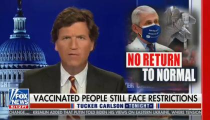 Tucker Carlson hosts Tucker Carlson Tonight on Fox News