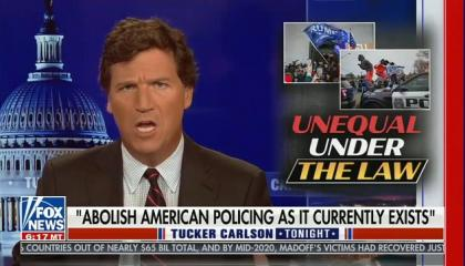 Tucker Carlson claims Rep. Rashida Tlaib wants to use local police departments to punish her political opponents