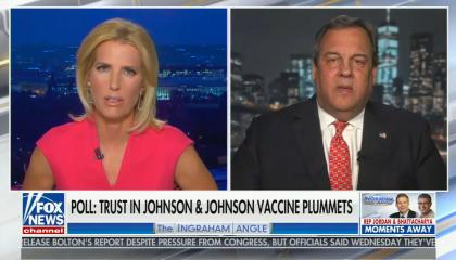 chyron reads: Poll: Trust in Johnson & Johnson vaccine plummets