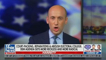 Sean Hannity hosts white nationalist Stephen Miller to claim Democrats are extremists