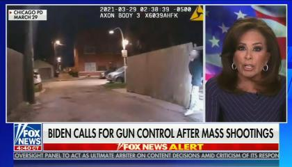 "chyron reads: ""Biden urges Congress to Act on gun control"""
