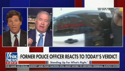 Tucker Carlson has complete meltdown and ends segment when guest says convicted murderer Derek Chauvin used excessive force