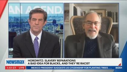 "Newsmax guest: ""If slavery was an original sin it's an African sin"""