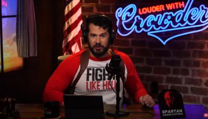 "On YouTube, Steven Crowder calls Kyle Rittenhouse a ""hero"""