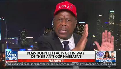 chyron reads: Dems don't let facts get in way of their anti-cop narrative